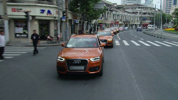 LeMans-Sieger Lotterer in Audi Q3 Trans China