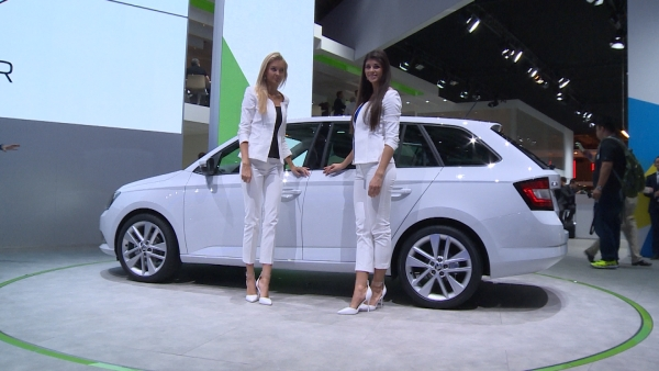 SKODA in Paris mit flottem Image